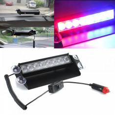 Stroboscop LED auto HB-803C, 3 moduri, rosu si albastru