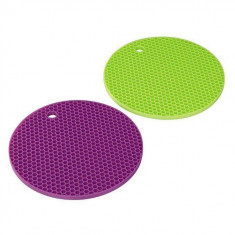 Suport silicon oale Xavax 2 bucati verde / mov