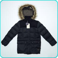 NOUA, DE FIRMA → Geaca iarna, puf gasca, ZARA → baieti | 9—10 ani | 140 cm, Alta, Negru