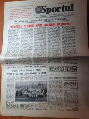 sportul 30 iunie 1989-steaua a cucerit cupa romaniei la fotbal cu dinamo 1-0 foto