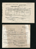 T489 INTREPRINDEREA IZVOARELE BAIA MARE CHITANTE TAXE HORNARIT 1964 SATU-MARE