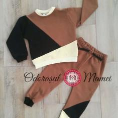 Trening 3 culori bumbac bebe – maro, negru, galben
