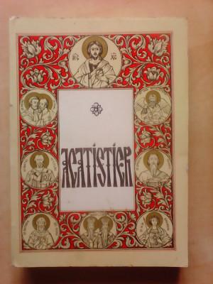 Acatistier , tiparit cu binecuvantarea inalt Prea Sfintitului Antonie , 1996 foto