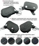 Husa cheie din piele pentru Audi A1 A3 A4 A5 A6 Q3 Q5 Q7, cusatura neagra, pentru cheie cu 3 butoane Kft Auto