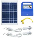 Cumpara ieftin Sistem solar fotovoltaic PNI GreenHouse H01, 30W, USB/Radio/MP3, cu acumulator 12V/7Ah, 2 becuri LED