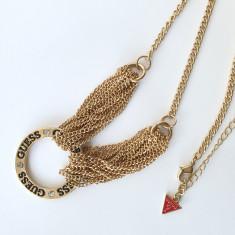 Pandantiv / Colier / Lantisor - Fashion GUESS Cerc - Auriu