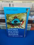 LAZAR CARJAN - ISTORIA POLITIEI ROMANE_DE LA ORIGINI PANA LA 1949 , CU AUTOGRAF