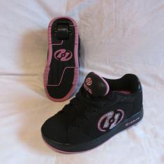 Adidasi / pantofi cu roti / role HEELYS originali, marime 33.5  (20 cm), Negru