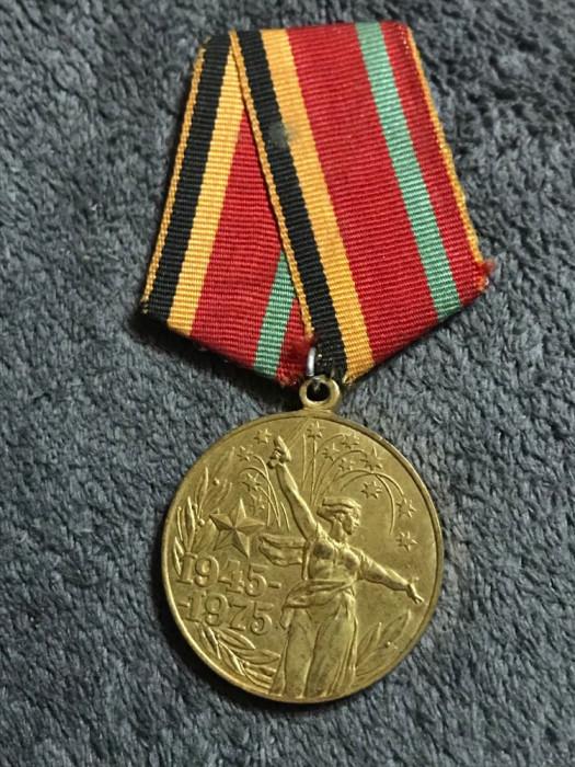 URSS Medalie ,Marele Război Patriotic a30 de ani USSR