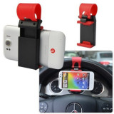 Suport Auto Telefon si GPS pentru Volan, Universala