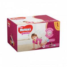 Scutece Huggies Pants Box Girls, Nr 4, 9 - 14 Kg, 72 buc
