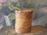 Arta si Design - Vas deosebit din lemn si scoarta de copac realizat manual !