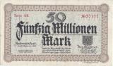 1923 (20 IX), 50.000.000 mark (Keller 5093l) - Germania (Schweinfurt)!