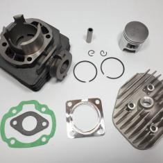 Kit Cilindru Set Motor + Chiuloasa Scuter Suzuki Estilete 49cc 50cc Racire AER