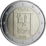 Malta 2 Euro 2018 (Cultural Heritage)  CLT7 , KM-New UNC !!!