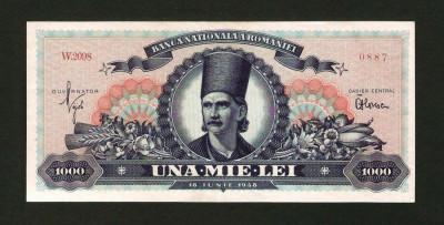 ROMANIA 1000 LEI - 1948 .  UNC . NECIRCULATA . TUDOR VLADIMIRESCU foto