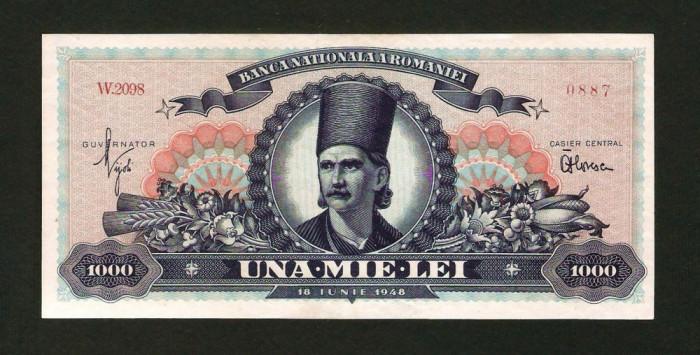 ROMANIA 1000 LEI - 1948 .  UNC . NECIRCULATA . TUDOR VLADIMIRESCU