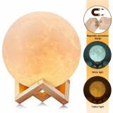 Cumpara ieftin Lampa Luna Moon LED Portabila, Alb Cald si Rece, Intensitate Reglabila, Reincarcabila, Oem