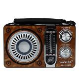 Radio portabil FM/AM/SW, suport card SD/TF/USB, efecte de lumini, lanterna