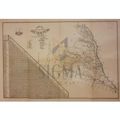 HARTA Cailor de Comunicatii a JUDETULUI PUTNA , 1927 - Colonel Alex Pastia