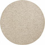 Covor Unicolor Wolly, Rotund, Crem, 200x200, BT Carpet