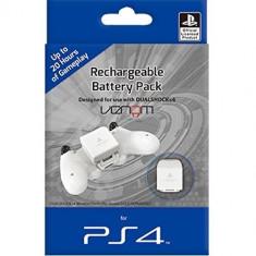 Acumulator alb si cablu, pentru controller PS4 - PlayStation - 60266 foto