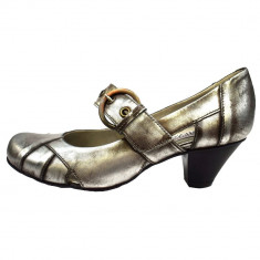Pantofi dama, din piele naturala, marca Carmens, B23302-14, gri , marime: 37