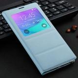 Cumpara ieftin Husa Toc Flip Cover S-View Samsung Galaxy Note 4 LOGO si CHIP