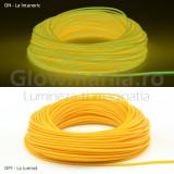 Cumpara ieftin Fir electroluminescent El running Wire, galben, 2.3mm
