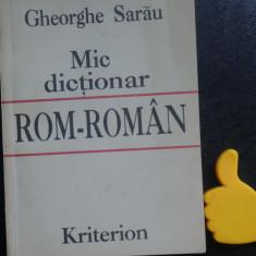 Mic dictionar rom-roman Gheorghe Sarau