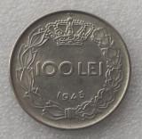 ROMANIA 100 LEI 1943 8.5 g, 28 mm, MIHAI I, FRUMOASA **