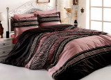Lenjerie de pat matrimonial cu husa de perna dreptunghiulara Rose bumbac satinat gramaj tesatura 120 g mp multicolor
