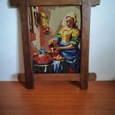 Goblen, rama lemn, 48x38 cm, fara sticla protectie