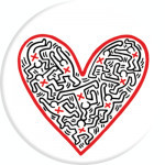 Suport stand Popsockets ® Original, Cross my heart, Colectia Keith Haring