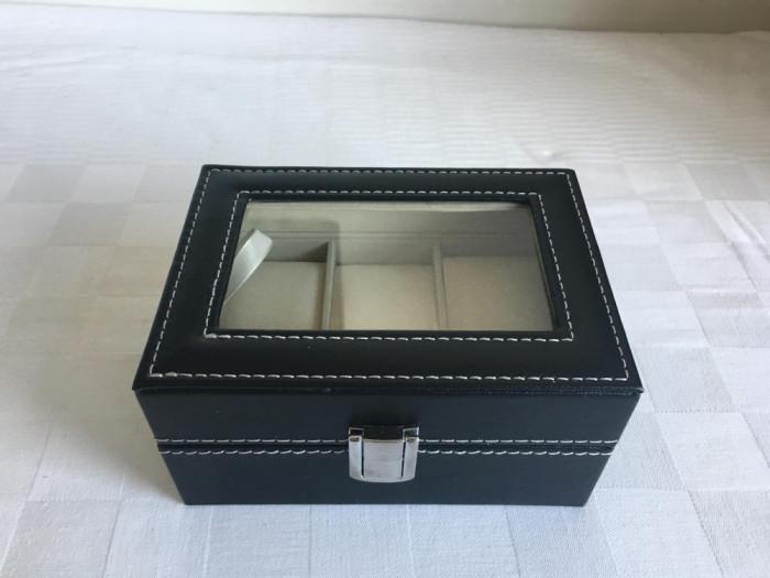 Cutie Caseta Depozitare pentru 3 Ceasuri – cadoul ideal. SIGILAT!