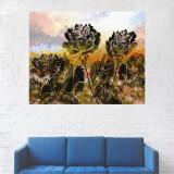 Tablou Canvas, Pictura Artistica Trandafiri Verzi - 80 x 100 cm