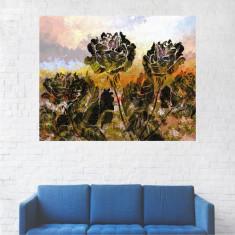 Tablou Canvas, Pictura Artistica Trandafiri Verzi - 40 x 50 cm