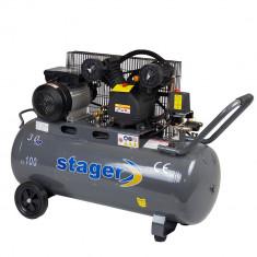 Compresor aer cu ulei STAGER 3cp 100l debit aer refulat 250l/min 8bar