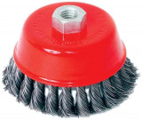 Perie circulara tip cupa cu toroane pentru flex 125 mm