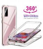 Husa CRYSTAL cu protectie 360° fata + spate Samsung Galaxy S20 FE 5G, Alt model telefon Samsung, Silicon