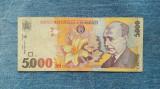 5000 Lei 1998 Romania filigran drept