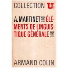 Elements de linguistique generale