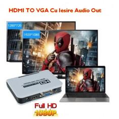 Video Converter HDMI To VGA Cu Audio Ieșire1080P