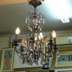 Candelabru sticla murano ( Cristal ) pentru 4 becuri anii '30