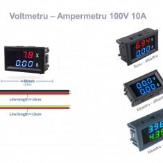 Voltmetru ampermetru voltampermetru panou DC 0-100V 10A