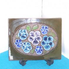 Tablou ceramica basorelief hand made -Panselute 4- Aimo Nietosvuori, JIE Suedia