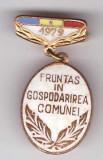 Insigna Fruntas in gospodarirea comunei 1979