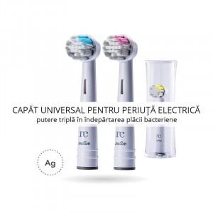 Capat / Rezerva universala periuta de dinti electrica rotativa, peri cu argint, Sensitive, NovaCare