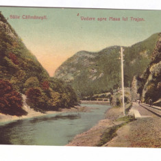 BAILE CALIMANESTI-VEDERE SPRE MASA LUI TRAIAN-CARTE POSTALA CIRCULATA LA 1909