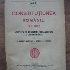 CONSTITUTIUNEA ROMANIEI DIN 1923 ADNOTATA CU DESBATERI PARLAMENTARE... - 1925